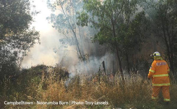 Noorumba Reserve burn Campbelltown